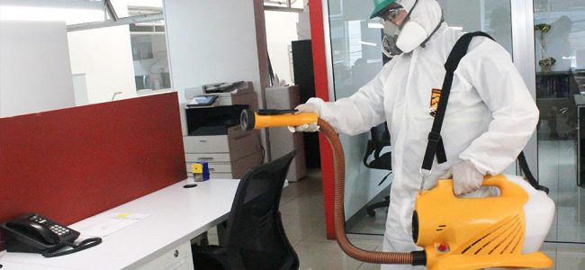Periodically sanitize and disinfect your workplace in the face of the Covid-19 crisis